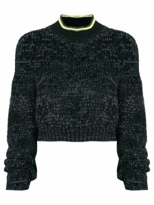 T By Alexander Wang cropped knitted jumper - Black