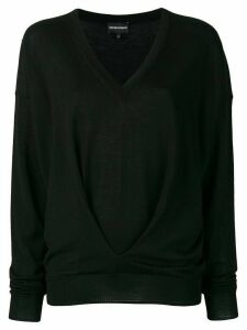 Emporio Armani v-neck jumper - Black