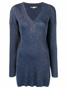 Stella McCartney knitted glitter dress - Blue