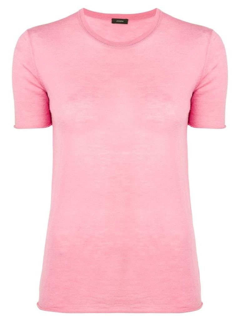 Joseph short-sleeve fitted sweater - Pink