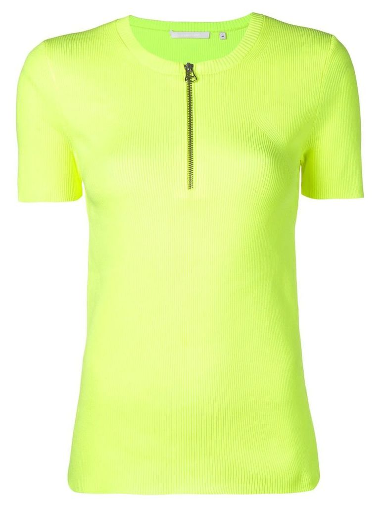 Helmut Lang half-zip short-sleeve top - Green