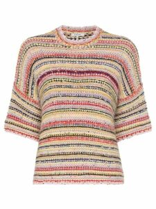 Ganni Brookhaven stripe knit short sleeved jumper - Multicolour