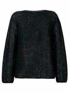 M Missoni metallic glitter knitted jumper - Black