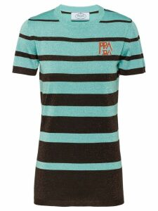Prada lamé wool T-shirt - Green
