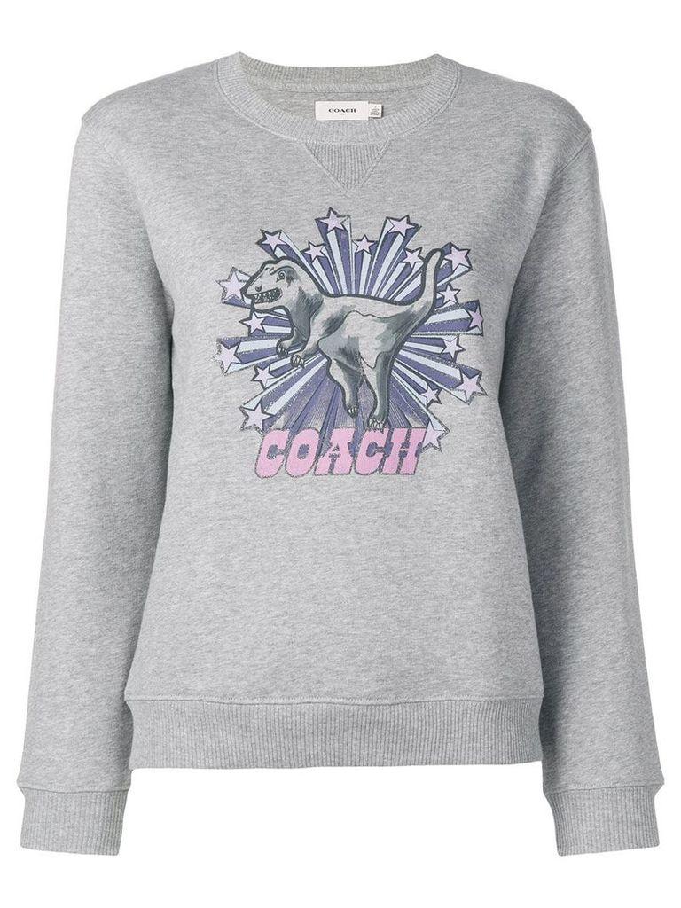 Coach dinosaur star print sweatshirt - Grey