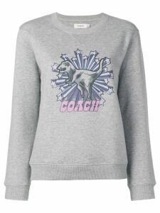 Coach dinosaur star print sweatshirt - Grey
