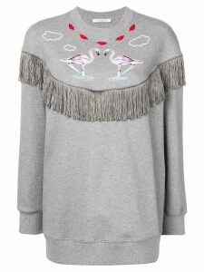 Vivetta fringe detail sweatshirt - Grey
