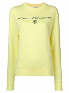 Golden Goose logo sweatshirt - Yellow