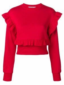 MSGM frill trim sweatshirt - Red