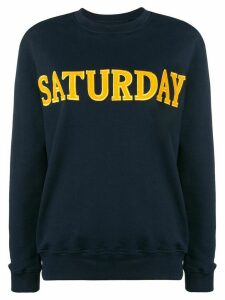 Alberta Ferretti Saturday sweatshirt - Blue