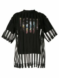 Maison Mihara Yasuhiro striped layered T-shirt - Black