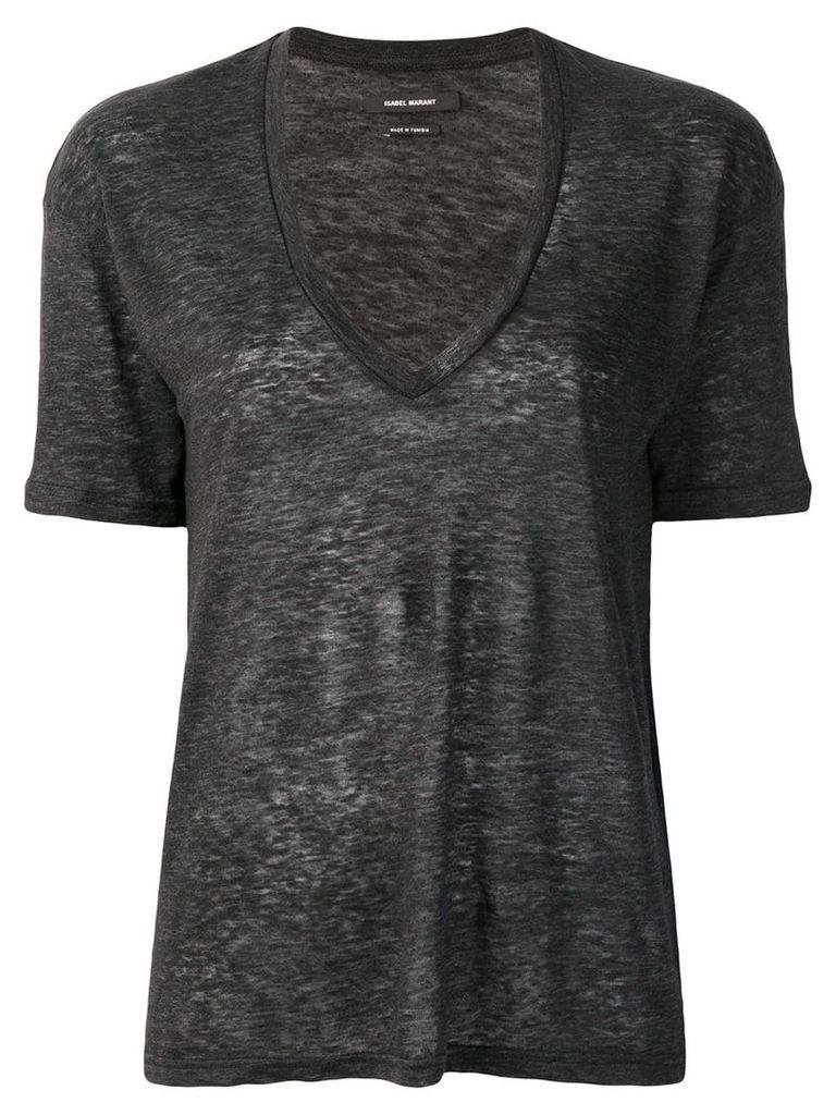 Isabel Marant V-neck T-shirt - Grey