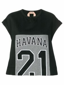 Nº21 Havana 21 print T-shirt - 9000 Black