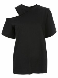 Goen.J cold shoulder T-shirt - Black