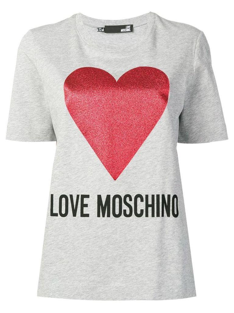 Love Moschino printed T-shirt - Grey