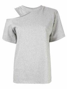 Goen.J cold shoulder T-shirt - Grey