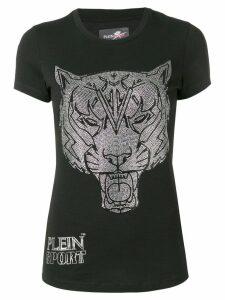 Plein Sport embellished Tiger T-shirt - Black