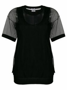 P.A.R.O.S.H. oversized tulle T-shirt - Black