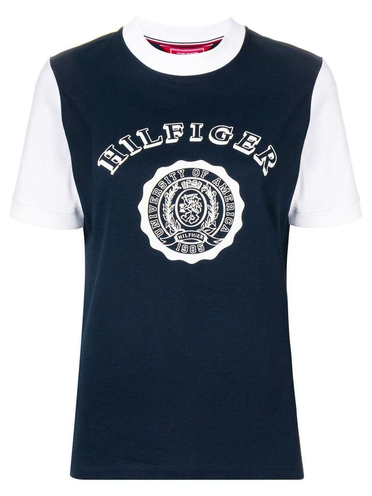Hilfiger Collection contrast sleeve logo T-shirt - Blue