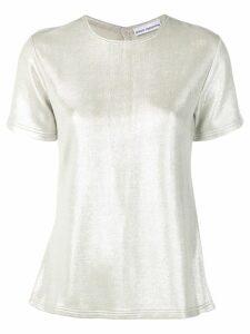 Paco Rabanne metallic T-shirt - Silver