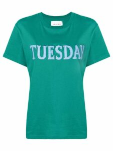 Alberta Ferretti embroidered tuesday T-shirt - Green