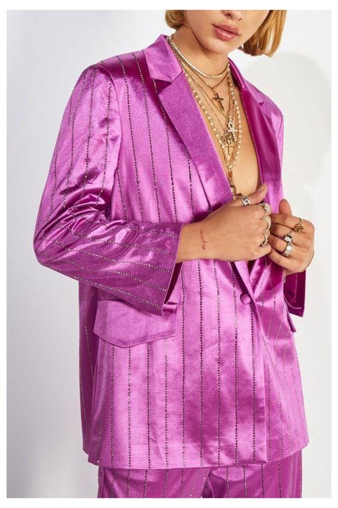 Womens **Purple Suit Jacket By Jaded London - Purple, Purple