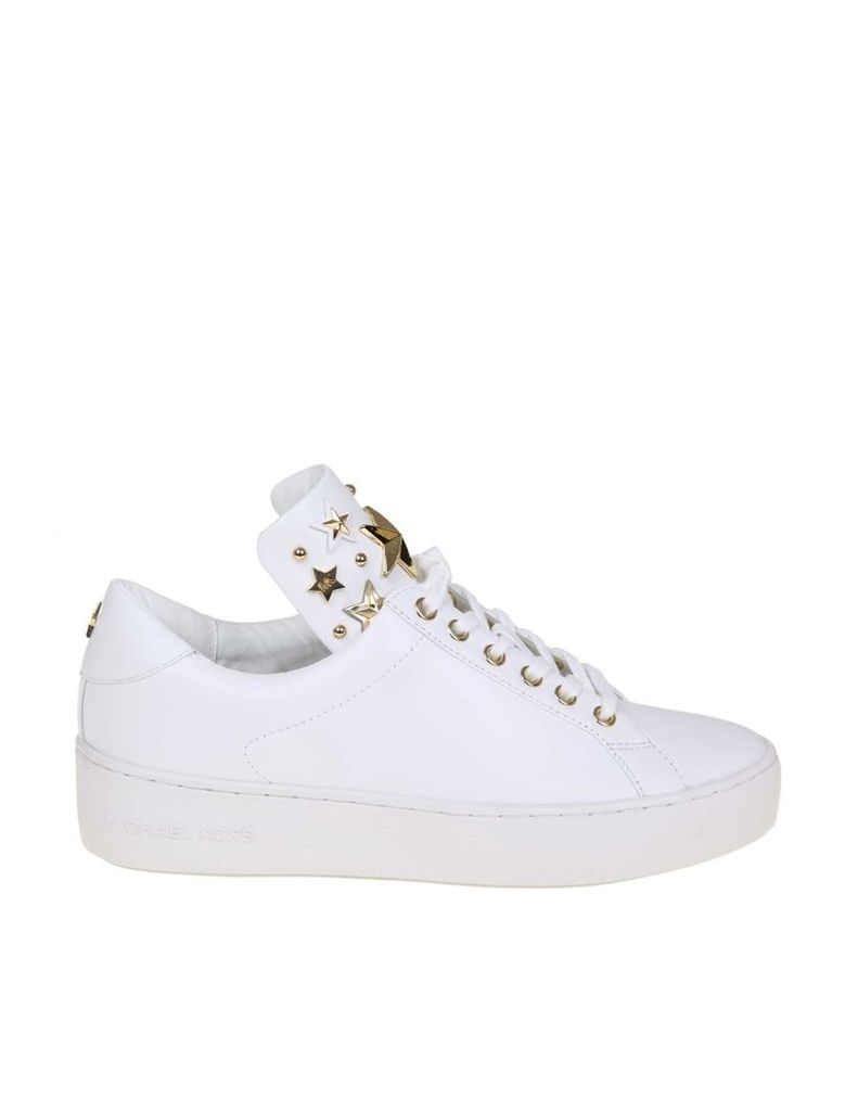 Michael Kors Mindy Sneakers In White Leather
