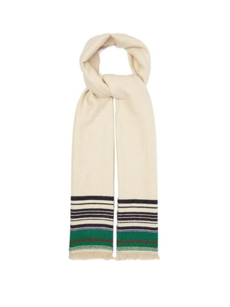 Isabel Marant - Milla Striped Cashmere Scarf - Womens - White