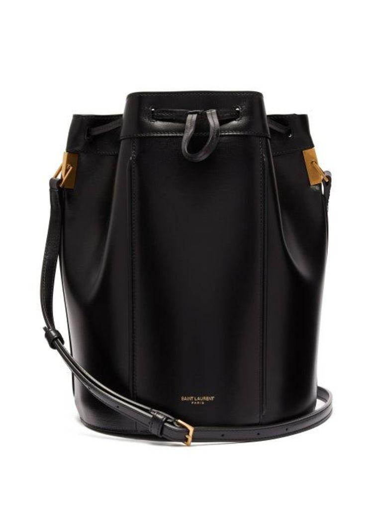 Saint Laurent - Talitha Smooth Leather Bucket Bag - Womens - Black