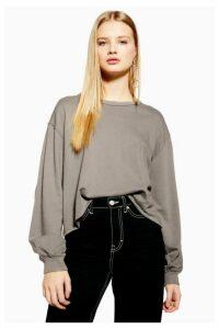 Womens Nibbled Sweatshirt - Grey, Grey