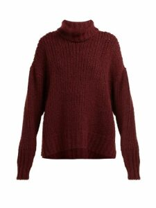 By. Bonnie Young - Oversized Cashmere Blend Sweater - Womens - Burgundy