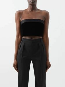 Cecilie Bahnsen - Beate Striped Cotton Blend Georgette Dress - Womens - Yellow White