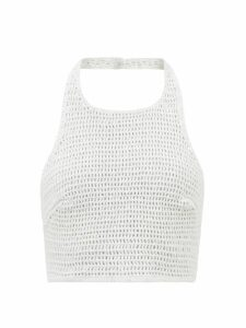 Miu Miu - Studded Suede Skirt - Womens - Brown