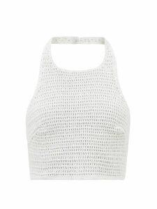 Miu Miu - Studded Suede Skirt - Womens - Brown