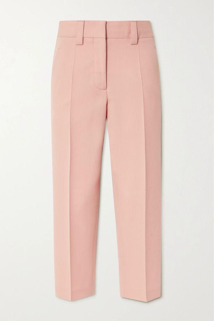 BY FAR - Jamie Duchesse-satin And Croc-effect Leather Shoulder Bag - Black