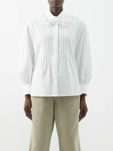Proenza Schouler - Striped Ribbed Knit Cotton Blend Midi Dress - Womens - Black Multi
