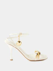 Carolina Herrera - Polka Dot Fil Coupé Silk Blend Dress - Womens - Fuchsia