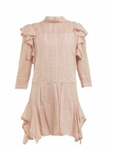 Isabel Marant Étoile - Alba Embroidered Cotton Mini Dress - Womens - Light Pink