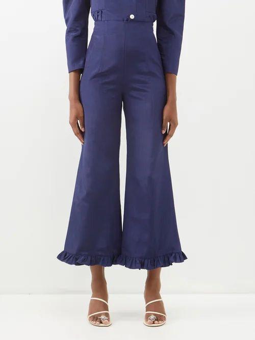 Isabel Marant Étoile - Akala Handkerchief Hem Cotton Skirt - Womens - Black