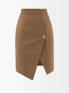 Isabel Marant Étoile - Akala Handkerchief Hem Cotton Skirt - Womens - Black