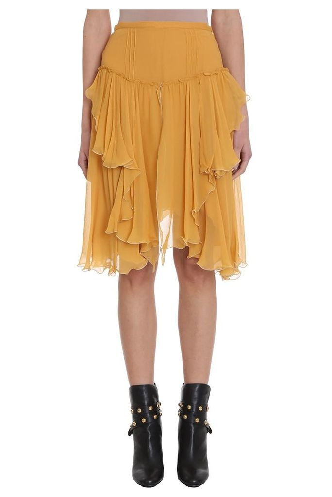 See by Chloé Yellow Georgette Skirt