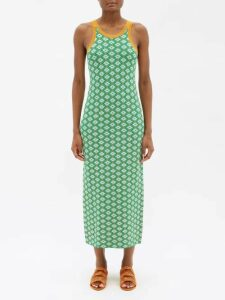 Blazé Milano - Cool Feeling Double Breasted Striped Velvet Blazer - Womens - Burgundy Multi