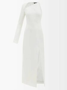 Blazé Milano - Pequod Double Breasted Check Linen Blazer - Womens - Black White