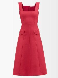Pallas X Claire Thomson-jonville - Eton Single Breasted Grain De Poudre Wool Blazer - Womens - Navy