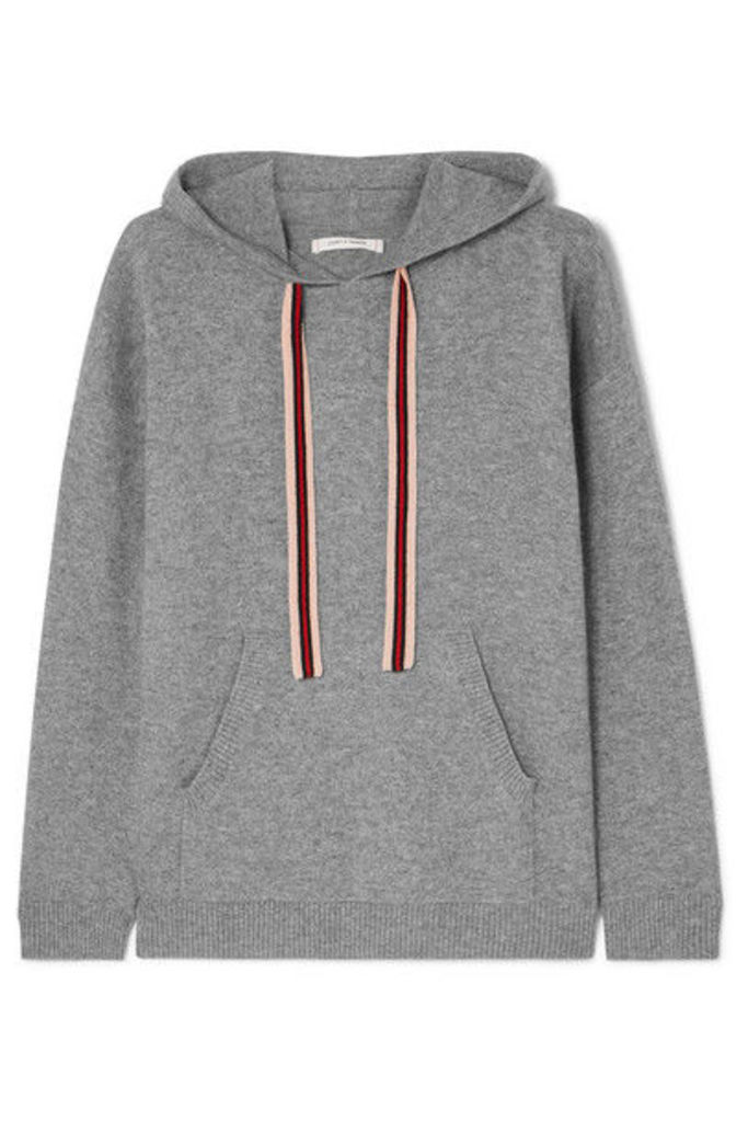 Chinti and Parker - Ringmaster Cashmere And Wool-blend Hoodie - Gray