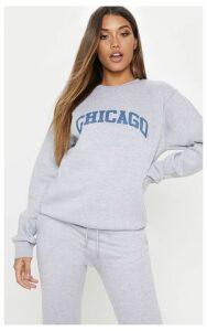 Grey Marl Chicago Sweater, Grey