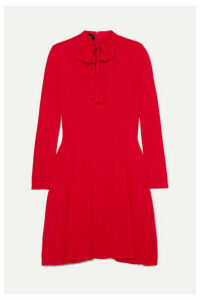 Giambattista Valli - Pussy-bow Pleated Crepe Dress - Red