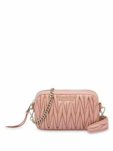 Miu Miu Matelassé leather shoulder bag - Pink