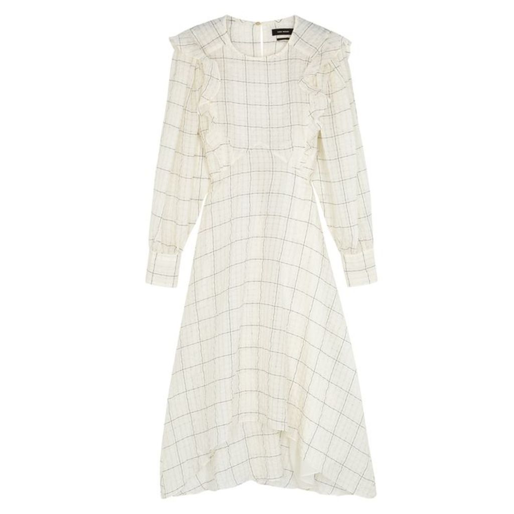 Isabel Marant Adonis Checked Cupro-blend Midi Dress