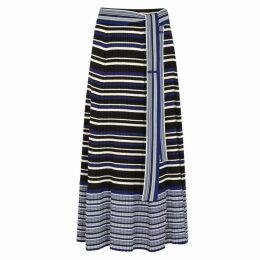 3.1 Phillip Lim Striped Stretch-knit Jersey Midi Skirt